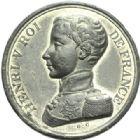 Photo numismatique  MEDAILLES MODERNES FRANÇAISES HENRI V, prétendant (29 septembre 1820-1883)  Module de 5 francs.
