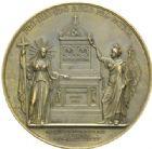Photo numismatique  MEDAILLES MODERNES FRANÇAISES CHARLES X (16 septembre 1824-2 août 1830)  Monument aux morts du débarquement de Quiberon en 1795.