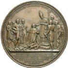 Photo numismatique  MEDAILLES MODERNES FRANÇAISES CHARLES X (16 septembre 1824-2 août 1830)  Sacre à Reims le 29 mai 1825, 77 mm.