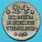 Photo numismatique  MONNAIES MONNAIES DU MONDE ALLEMAGNE PRUSSE, Frédéric II (1740-1786) 1/24e de Thaler.