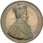 Photo numismatique  MEDAILLES MODERNES FRANÇAISES CHARLES X (16 septembre 1824-2 août 1830)  Sacre à Reims le 29 mai 1825, 59 mm.