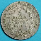Photo numismatique  MONNAIES MONNAIES DU MONDE ALLEMAGNE PRUSSE, Frédéric-Guillaume III (1797-1840) 1/6e de Thaler de 1814.