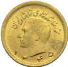 Photo numismatique  MONNAIES MONNAIES DU MONDE IRAN MOHAMMED REZA PAHLEVI (1942-1979) 1/4 pahlevi or, 1345 = 1966.