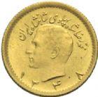 Photo numismatique  MONNAIES MONNAIES DU MONDE IRAN MOHAMMED REZA PAHLEVI (1942-1979) 1/4 pahlevi or, 1348= 1969.