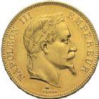 Photo numismatique  MONNAIES MODERNES FRANÇAISES NAPOLEON III, empereur (2 décembre 1852-1er septembre 1870)  100 francs or, Paris 1862.