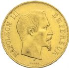 Photo numismatique  MONNAIES MODERNES FRANÇAISES NAPOLEON III, empereur (2 décembre 1852-1er septembre 1870)  100 francs or, Paris 1857.