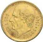 Photo numismatique  MONNAIES MONNAIES DU MONDE MEXIQUE République (depuis 1821) 2 1/2 pesos or, 1945.