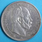 Photo numismatique  MONNAIES MONNAIES DU MONDE ALLEMAGNE PRUSSE, Guillaume 1er (1861-1888) 5 Mark de Berlin 1876.