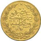 Photo numismatique  MONNAIES MONNAIES DU MONDE TURQUIE ABDUL HAMID II (1876-1909) 100 piastres or, an 5.