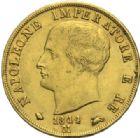 Photo numismatique  MONNAIES MODERNES FRANÇAISES NAPOLEON Ier, roi d'Italie (1805-1814)  40 lire or, Milan 1814 (sur 09).