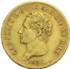 Photo numismatique  MONNAIES MONNAIES DU MONDE ITALIE SAVOIE-SARDAIGNE, Charles Félix (1821-1831) 20 lire or, Turin 1826.