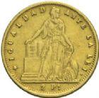 Photo numismatique  MONNAIES MONNAIES DU MONDE CHILI République (depuis 1821) 2 pesos or, Santiago 1860.