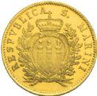 Photo numismatique  MONNAIES MONNAIES DU MONDE SAN-MARINO République 1 scudo et 2 scudi or, 1975.