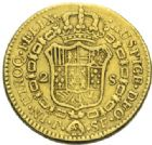 Photo numismatique  MONNAIES MONNAIES DU MONDE COLOMBIE CHARLES III, Roi d'Espagne (1759-1788) 2 escudos or, 1780.