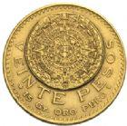 Photo numismatique  MONNAIES MONNAIES DU MONDE MEXIQUE République (depuis 1821) 20 pesos or, 1918.