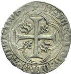 Photo numismatique  MONNAIES BARONNIALES Seigneurie de TREVOUX JEAN II de Bourbon (1456-1488) Blanc de Trévoux.