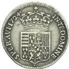 Photo numismatique  MONNAIES BARONNIALES Duché de LORRAINE LEOPOLD Ier (1690-1729) 1/6 d'aubonne, 1724.