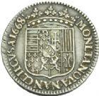 Photo numismatique  MONNAIES BARONNIALES Duché de LORRAINE CHARLES IV Réintégré (1661-1670) 1/4 de teston du 2ème règne, Nancy 1668.