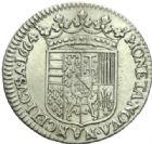 Photo numismatique  MONNAIES BARONNIALES Duché de LORRAINE CHARLES IV Réintégré (1661-1670) 1/2 teston du 2ème règne, Nancy 1664.