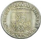 Photo numismatique  MONNAIES BARONNIALES Duché de LORRAINE CHARLES IV Réintégré (1661-1670) Teston du 2ème règne, Nancy 1669.