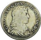 Photo numismatique  MONNAIES BARONNIALES Duché de LORRAINE CHARLES IV Réintégré (1661-1670) Teston du 2ème règne, Nancy 1665.