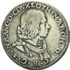 Photo numismatique  MONNAIES BARONNIALES Duché de LORRAINE NICOLAS FRANCOIS (1634) Teston, Florence 1634.