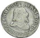 Photo numismatique  MONNAIES BARONNIALES Duché de LORRAINE HENRI II (1608-1624) Teston, Nancy 1615.