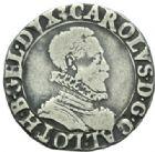 Photo numismatique  MONNAIES BARONNIALES Duché de LORRAINE CHARLES III (1545-1608) 1/4 de teston, Nancy 1585.