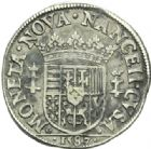 Photo numismatique  MONNAIES BARONNIALES Duché de LORRAINE CHARLES III (1545-1608) Teston, Nancy 1587.