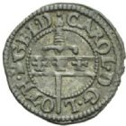 Photo numismatique  MONNAIES BARONNIALES Duché de LORRAINE CHARLES III (1545-1608) Liard, Nancy 1581.