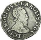 Photo numismatique  MONNAIES BARONNIALES Duché de LORRAINE CHARLES III (1545-1608) Teston, Nancy 1581.