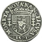 Photo numismatique  MONNAIES BARONNIALES Duché de LORRAINE CHARLES III (1545-1608) Teston, Nancy 1581.
