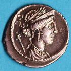 Photo numismatique  MONNAIES RÉPUBLIQUE ROMAINE Faustus Cornelius Sulla (vers 56)  Denier.