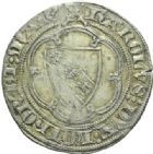 Photo numismatique  MONNAIES BARONNIALES Duché de LORRAINE CHARLES II (1390-1431) Gros, Sierck.