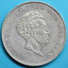 Photo numismatique  MONNAIES MONNAIES DU MONDE ALLEMAGNE SAXE, Anton V (1827-1836) Thaler de Dresde 1829.