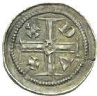 Photo numismatique  MONNAIES BARONNIALES Duché de LORRAINE FERRI III (1251-1303) Denier à l'étoile.