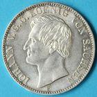 Photo numismatique  MONNAIES MONNAIES DU MONDE ALLEMAGNE SAXE, Jean V (1854-1873) Thaler de Dresde 1859.