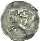 Photo numismatique  MONNAIES BARONNIALES Evêché de METZ ADALBERON III de Luxembourg (1047-1072) Denier, Epinal.