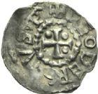 Photo numismatique  MONNAIES BARONNIALES Evêché de METZ THIERRY II de Luxembourg (1005-1047) Denier, Epinal.