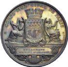 Photo numismatique  ARCHIVES VENTE 2014 -Coll J P Dixméras MÉDAILLES ET JETONS DEPUIS LA RESTAURATION  1704- Corps municipal de Paris à Delagrave, adjoint du 5ème arrondissement.