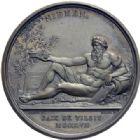 Photo numismatique  ARCHIVES VENTE 2014 -Coll J P Dixméras MÉDAILLES ET JETONS NAPOLEON Ier EMPEREUR (18 mai 1804-6 avril 1814 - 1815)  1698- Paix  de Tilsit, 1807.