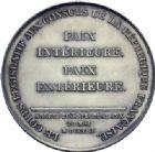 Photo numismatique  ARCHIVES VENTE 2014 -Coll J P Dixméras MÉDAILLES ET JETONS LE CONSULAT (9 novembre 1799- 18 mai 1804)  1691- Promulgation du Traité d'Amiens, 20 mai 1802.