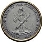 Photo numismatique  ARCHIVES VENTE 2014 -Coll J P Dixméras MÉDAILLES ET JETONS LE CONSULAT (9 novembre 1799- 18 mai 1804)  1685- Vivandiers de l'Armée des Pyrénées Orientales, uniface (1799).