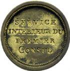 Photo numismatique  ARCHIVES VENTE 2014 -Coll J P Dixméras MÉDAILLES ET JETONS LE CONSULAT (9 novembre 1799- 18 mai 1804)  1684- Insigne du Service intérieur du Premier Consul (1799).