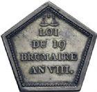 Photo numismatique  ARCHIVES VENTE 2014 -Coll J P Dixméras MÉDAILLES ET JETONS LE CONSULAT (9 novembre 1799- 18 mai 1804)  1683- Insigne de la Commission du Conseil des Anciens (1799).