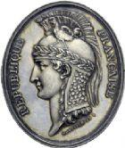 Photo numismatique  ARCHIVES VENTE 2014 -Coll J P Dixméras MÉDAILLES ET JETONS LE CONSULAT (9 novembre 1799- 18 mai 1804)  1682- Insigne ovale du Conseil d'Etat (1799-1800).