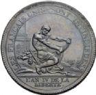 Photo numismatique  ARCHIVES VENTE 2014 -Coll J P Dixméras MEDAILLES ET JETONS LOUIS XVI (1774-1793) et RÉVOLUTION FRANÇAISE MONNAIES DE PARTICULIERS, ESSAI MONÉTAIRE, INSIGNES 1677- 5 sols à l'Hercule des frères Monneron, 1792.