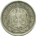 Photo numismatique  MONNAIES MONNAIES DU MONDE ALLEMAGNE REPUBLIQUE de WEIMAR (1919-1933) 50 Reichspfennig.