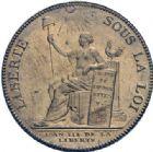 Photo numismatique  ARCHIVES VENTE 2014 -Coll J P Dixméras MÉDAILLES ET JETONS LOUIS XVI (1774-1793) et RÉVOLUTION FRANÇAISE MONNAIES DE PARTICULIERS, ESSAI MONÉTAIRE, INSIGNES 1675- 2 sols des frères Monneron, 1791.