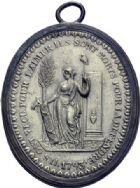 Photo numismatique  ARCHIVES VENTE 2014 -Coll J P Dixméras MÉDAILLES ET JETONS LOUIS XVI (1774-1793) et RÉVOLUTION FRANÇAISE MEDAILLES DE PALLOY 1674- Les victimes de la Liberté, uniface 1793.